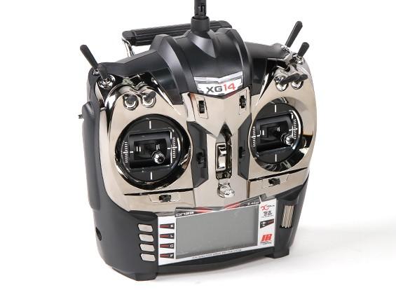 JR XG14 14CH DMSS XBus Transmitter Mode 2 mit RG731BX Receiver