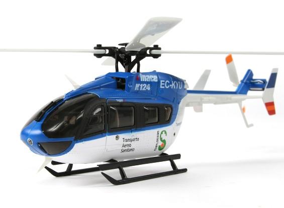 K124 RTF-Skala 6CH 3D Eurocopter-Hubschrauber (Futaba FHSS-kompatibel)