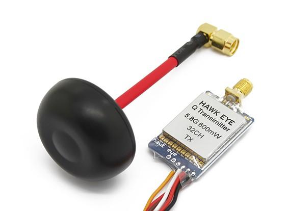 Hawk Eye Q Transmitter 5.8G 600mW 32CH A / V für FPV w / Antenna