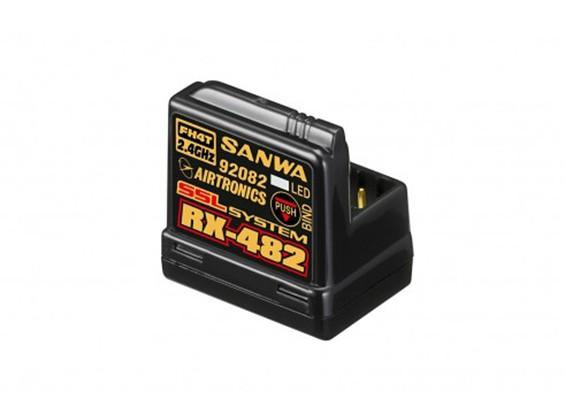 Sanwa / Airtronics RX-482 2,4 GHz 4-Kanal FHSS4 Super-Response-Empfänger w / Sanwa Synchronized Verbindung (SSL)