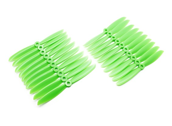 Gemfan Acromodelle ABS Großpackung 6x4,5 Green (CW / CCW) (10 Paare)