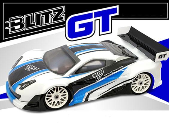BLITZ 1/8 GT E / P Light Body Shell mit Flügel (1,0 mm)