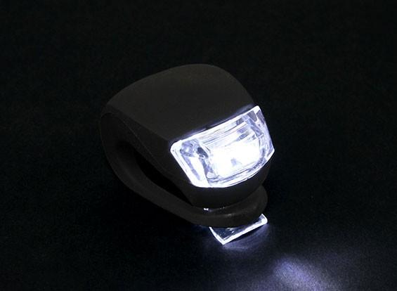 Schwarz Silicon Mini-Lampe (White LED)