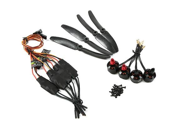 Emax FPV Drone MT1806-2280kv Brushless Motor Set w / ESC 5x3 (CW CCW)