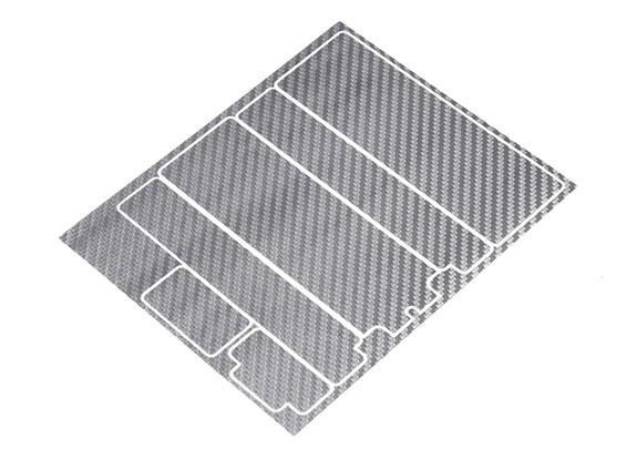 Track Dekorative Batterie-Abdeckung Panels für Standard-2S Hardcase Silber Carbon-Muster (1 PC)
