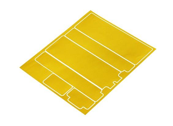 Track Dekorative Batterie-Abdeckung Panels für Standard-2S Hardcase Metallic Gold (1 PC)