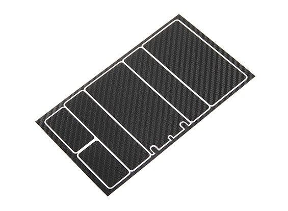 Track Dekorative Batterie-Abdeckung Panels für 2S Shorty-Pack Black Carbon-Muster (1 PC)