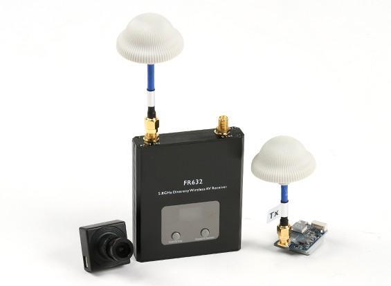 Quanum FPV Bundle Set mit 600TVL Kamera, 600mW Sender und 40CH Diversity-Empfänger