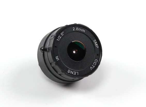 """2.8mm IR-Brett-Objektiv F2.0 CCD Größe 1 / 2.5 """"156 ° Winkel w / Berg"""