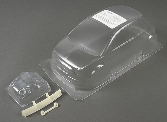01.10 Fiat 500 Clear Body Shell (für M-Chassis)