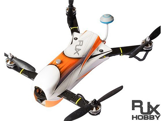 RJX CAOS 330 FPV Racing Quad Combo w / Motor, ESC, Flugsteuerung, Kamera & FPV-System (orange)