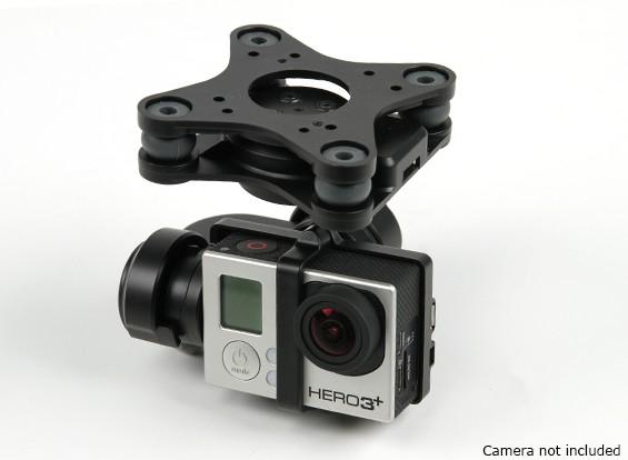 GH3-3D 3-Achsen Kameraausrichtung (Schwarz)