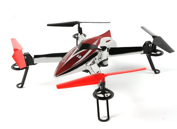 WLtoys Q212 Spaceship Quadcopter w / barometrischen Höhenmesser & 1 Key Auto Start RTF (Mode 2)