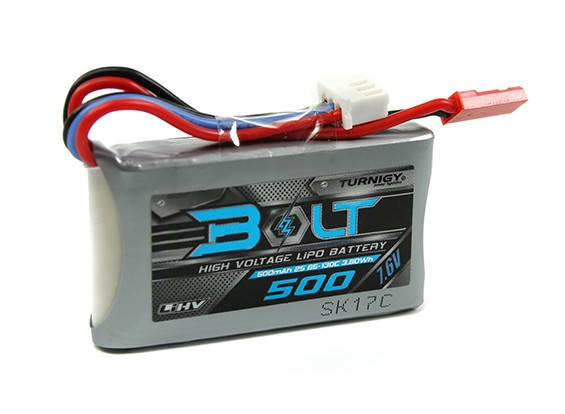 Turnigy Bolt 500mAh 2S 7.6V 65 ~ 130C High Voltage Lipo-Pack (LiHV)