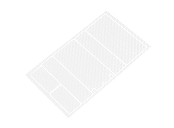 Track Dekorative Batterie-Abdeckung Panels für 2S Shorty-Pack Transparenz Carbon-Muster (1 PC)