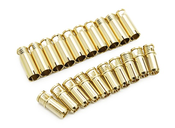 6mm Supra X Gold-Kugel-Steckverbinder (10 Paare)
