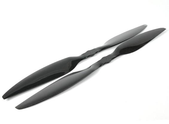 Dynam 30x5.5 Carbon Fiber Propellern für Multirotors (CW und CCW) (1Paar)