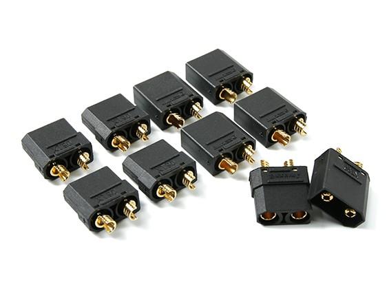 Nylon XT90 Stecker männlich / weiblich (5 Paare) Schwarz