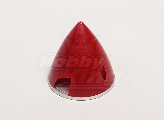 Nylon Spinner mit Alu-Backplate 57mm Red