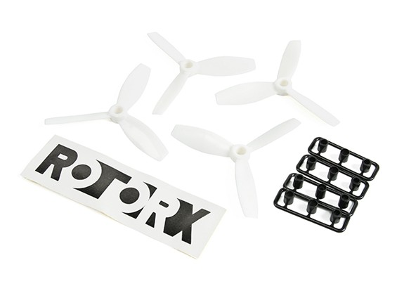 RotorX Bull Nose 3-Blatt Propeller Kunststoff RX3040T Weiß (CW 2ST) (CCW 2ST)