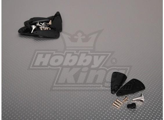Alloy Einstellbare Horn mit Basis 2.8x15mm (5sets / bag)