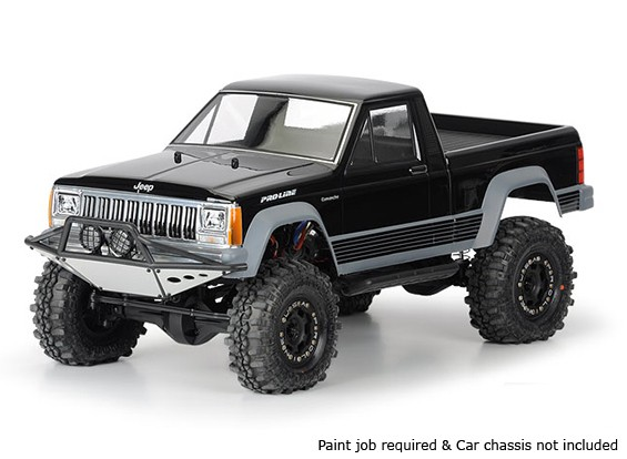 "Pro-Line Jeep Comanche vollwertiges Bett Clear Body Shell 1/10 für 12.3 ""Radstand Maßstab Crawlers"