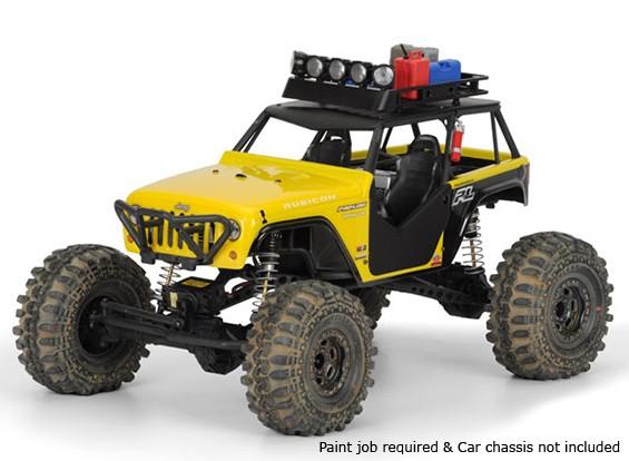 Pro-Line Jeep Wrangler Rubicon Customized Clear Body Shell 1/10 für Wraith