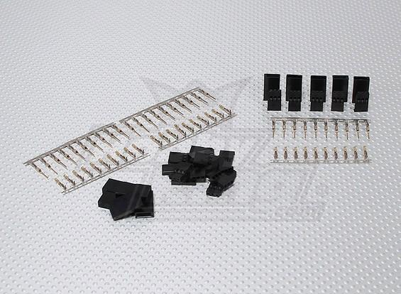 JST-SH Servo-Stecker-Set (Futaba) vergoldet (10pairs / set)