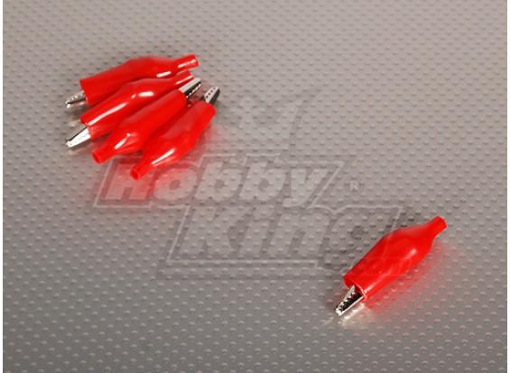 Krokodilklemme RED (5pcs / bag)