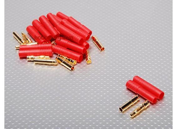 HXT 4mm Goldstecker w / Schutz (10pcs / set)
