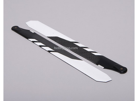 325mm-Carbon-Faser-Hauptblatt-Weiß (1Paar)