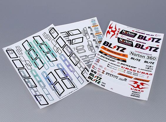 Self Adhesive Aufkleber Blatt - Norton 1/10 Scale (3pc)