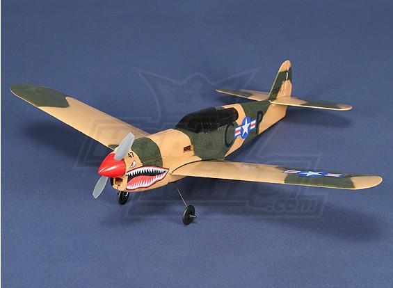 Micro P-40 mit Brushless-Motor