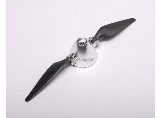Folding Propeller 9x5 W / Alloy Hub 40mm / 3.2mm Welle