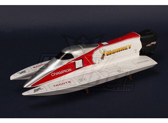 Hornet Formel-1-Tunnel Hull mit 540 Outboard Motor R / C Rennboot (750mm)