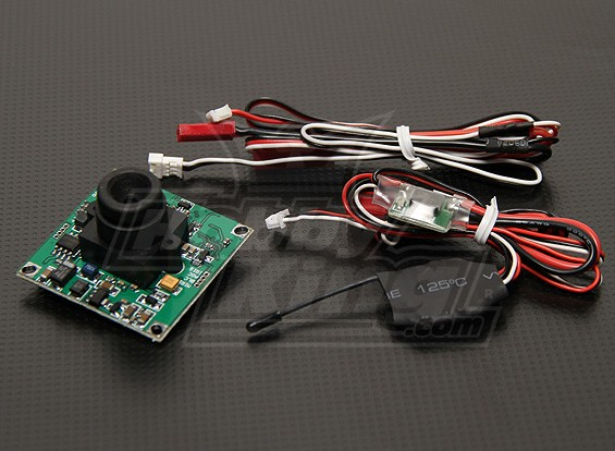 FPV-Transmitter & Video-Kamera 1/3-Zoll-CCD-Kamera (NTSC)