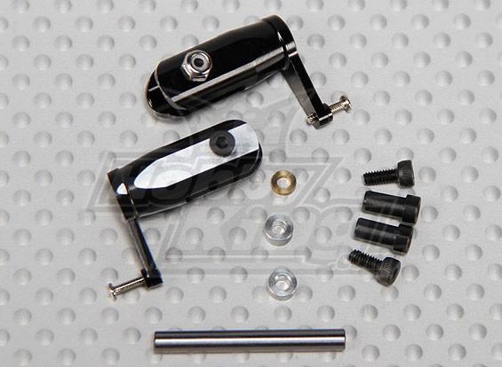 Gaui 100 & 200 Größe CNC Haupt Grips-Set schwarz-eloxiert (203645)