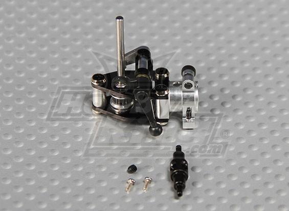 Gaui 100 & 200 CNC-Alu Heckgetriebegehäuse w / Doppelgelenke Heckrotor Lever-Belt-Version (schwarz eloxiert)