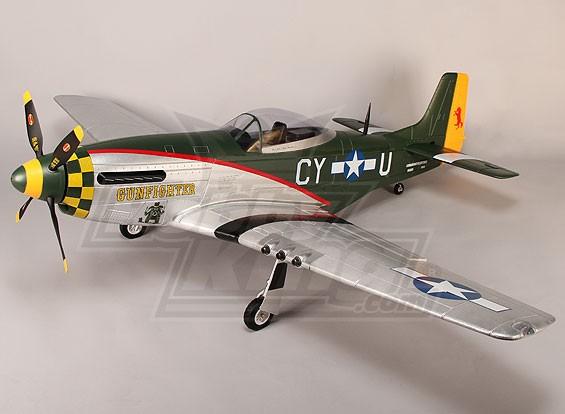 P-51D Gunfighter 1600mm EPO w / Elektro Retracts, Klappen, Beleuchtung (PNF)
