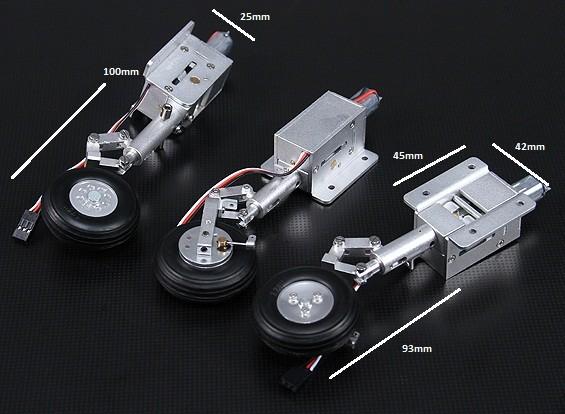 Turnigy Full Metal Servoless Einziehfahrwerk mit Oleo Beine und Bremssystem (Suits 90mm Hawk und L-59)