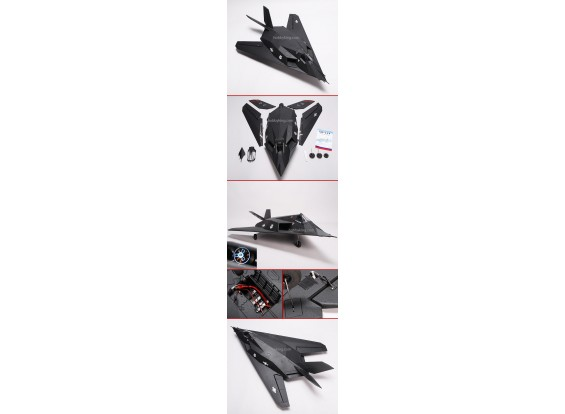 F-117-Kampfflugzeug w / Brushless EDF RTF