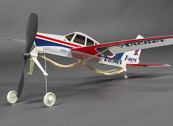 Freeflight Rubber Powered Piper Cherokee Archer PA-28-181 480mm