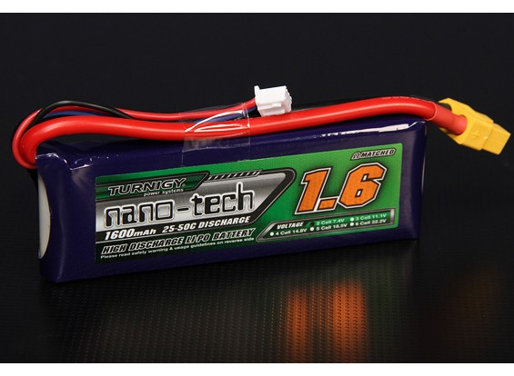 Turnigy Nano-Tech-1600mAh 2S 25 ~ 50C Lipo-Pack