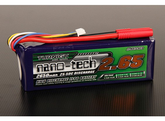 Turnigy Nano-Tech-2650mah 4S 25 ~ 50C Lipo-Pack