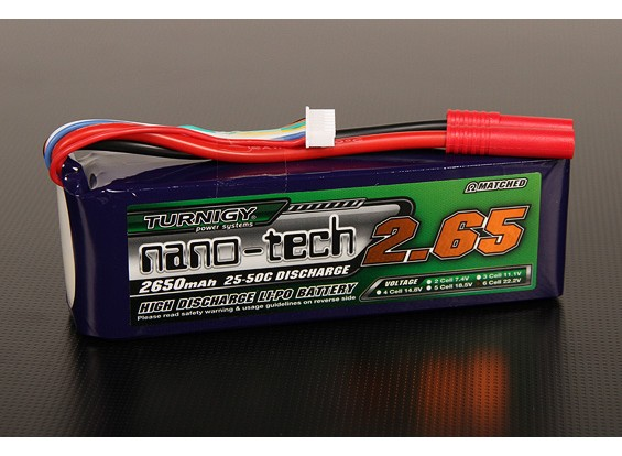 Turnigy Nano-Tech-2650mah 6S 25 ~ 50C Lipo-Pack