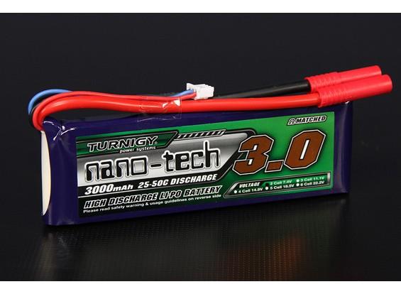 Turnigy Nano-Tech-3000mAh 2S 25 ~ 50C Lipo-Pack