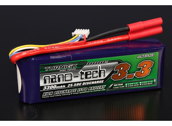 Turnigy Nano-Tech-3300mAh 4S 25 ~ 50C Lipo-Pack