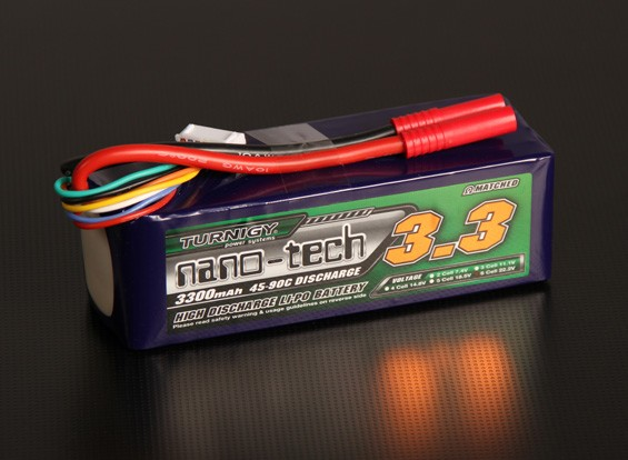 Turnigy Nano-Tech-3300mAh 6S 45 ~ 90C Lipo-Pack