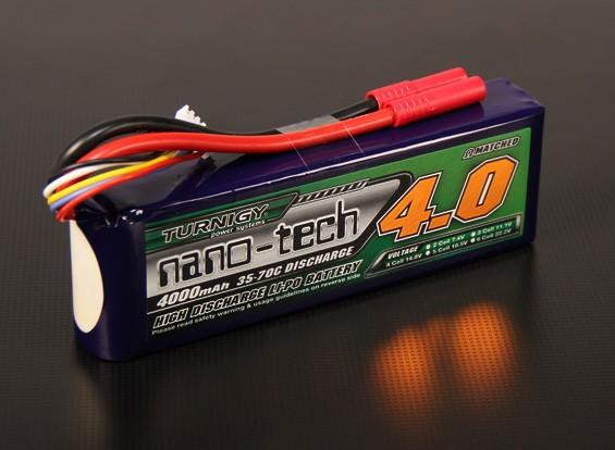 Turnigy Nano-Tech-4000mAh 4S 35 ~ 70C Lipo-Pack (Passend Hirobo Lepton EX, HIR)