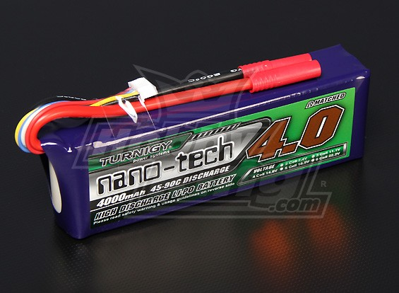 Turnigy Nano-Tech-4000mAh 4S 45 ~ 90C Lipo-Pack